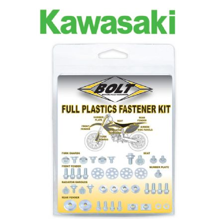 works version BOLT KAWASAKI FULL PLASTIC FASTENER KIT 03-07 KX125 KX250, 04-11 KX250F KX450F